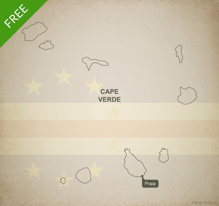 Free vector map of Cape Verde outline