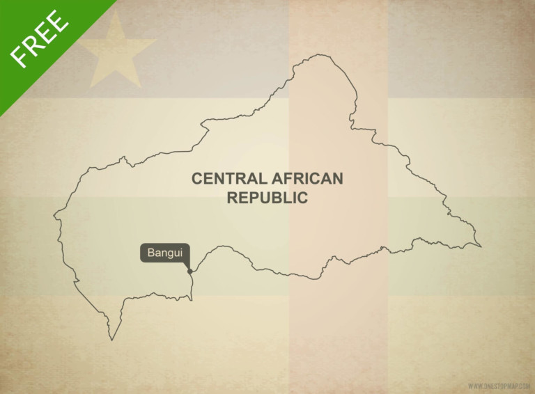 Free vector map of Central African Republic outline