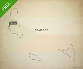 Free vector map of Comoros outline