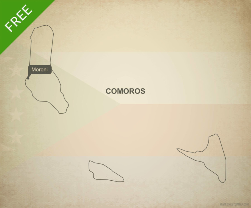 Free vector map of Comoros outline