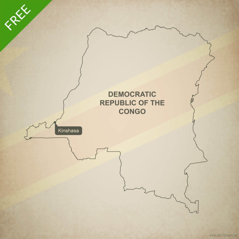 Free vector map of Democratic Republic of the Congo outline