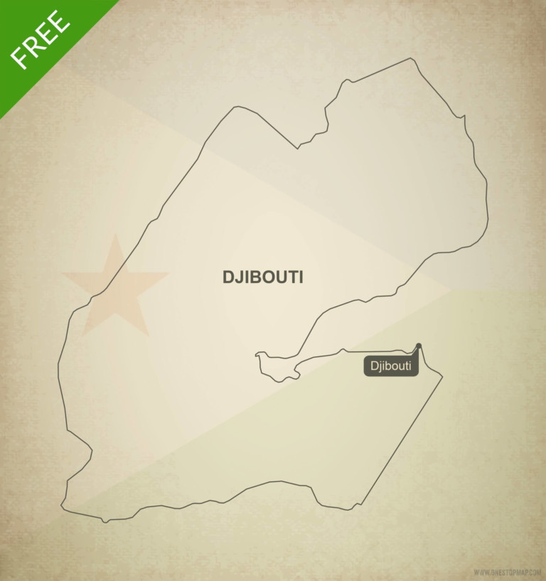 Free vector map of Djibouti outline