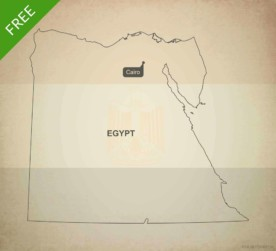 Free vector map of Egypt outline