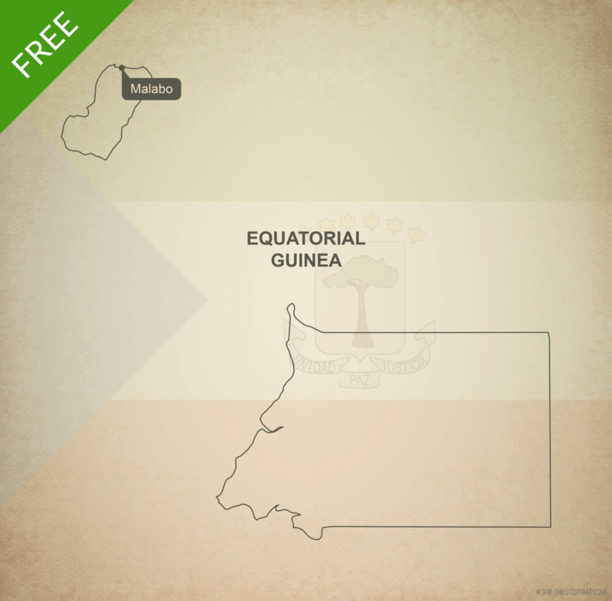 Free vector map of Equatorial Guinea outline