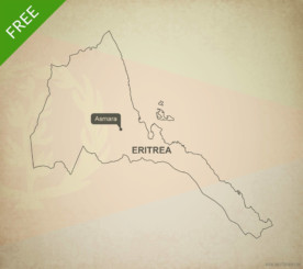 Free vector map of Eritrea outline