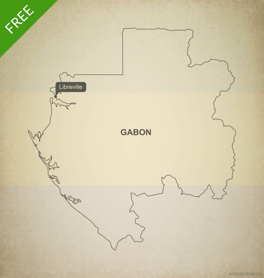 Free vector map of Gabon outline