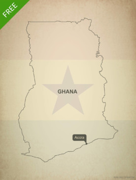 Free vector map of Ghana outline