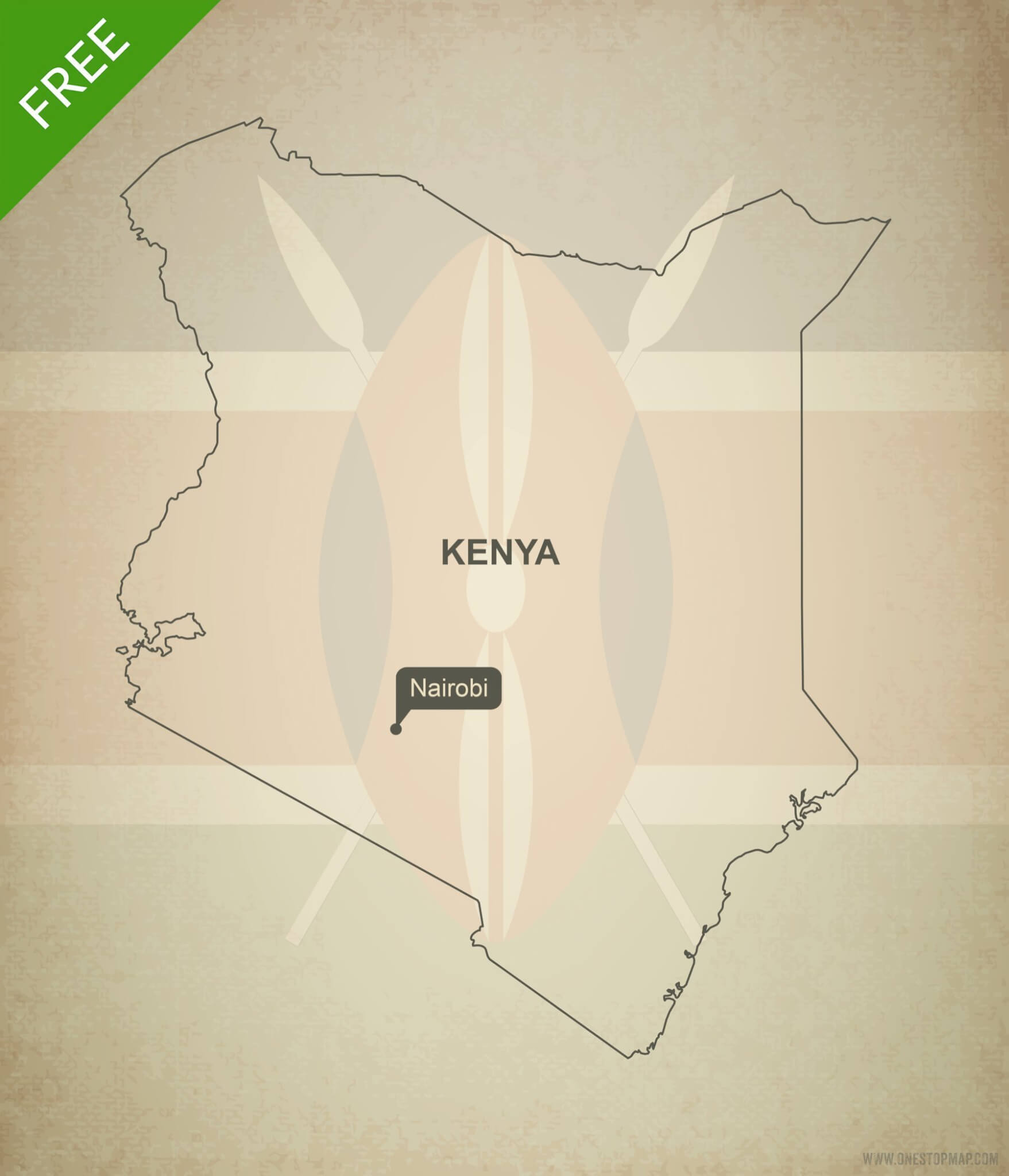 Free vector map of Kenya outline