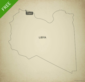 Free vector map of Libya outline