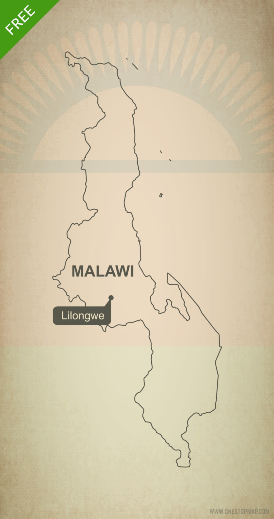 Free vector map of Malawi outline
