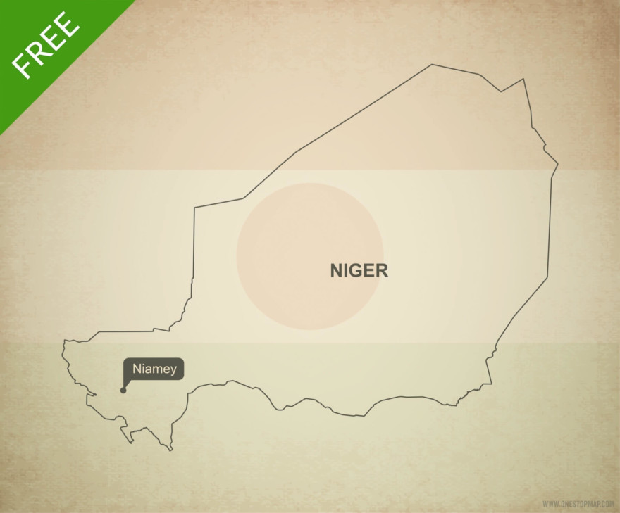 Free vector map of Niger outline