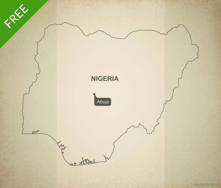 Free vector map of Nigeria outline