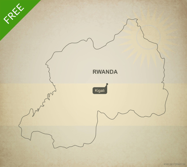 Free vector map of Rwanda outline