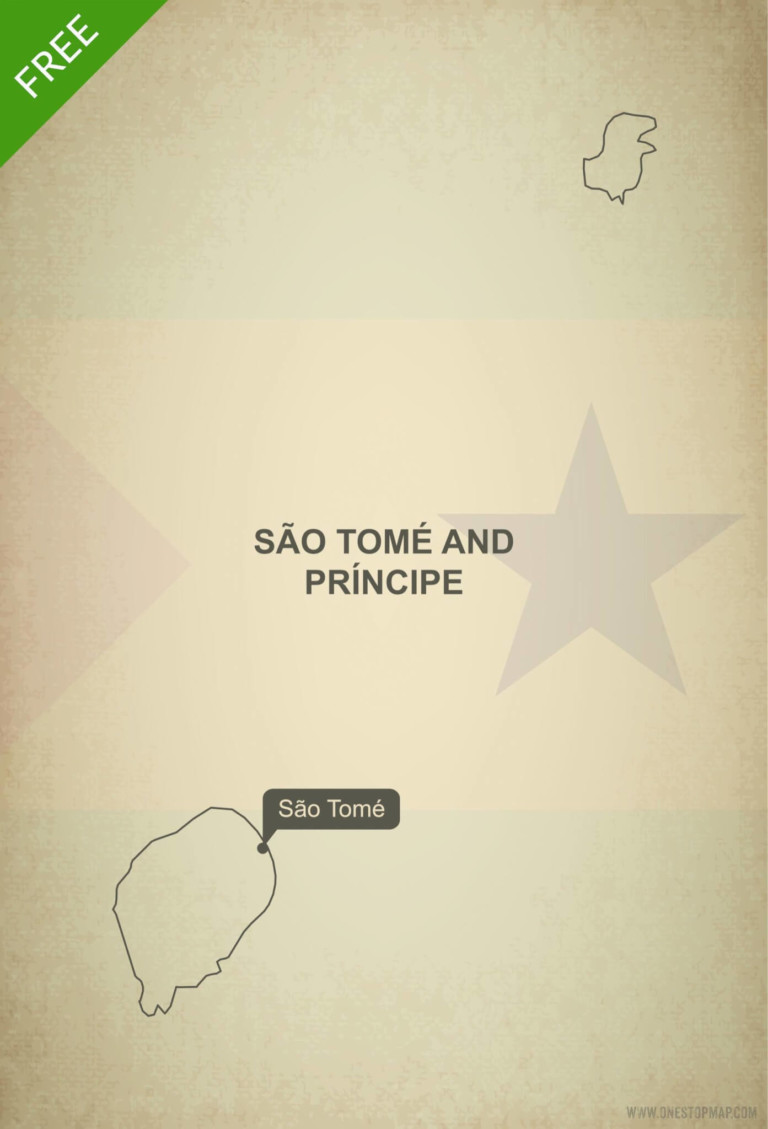 Free vector map of Sao Tome and Principe outline