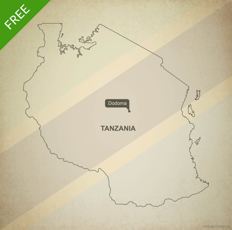 Free vector map of Tanzania outline