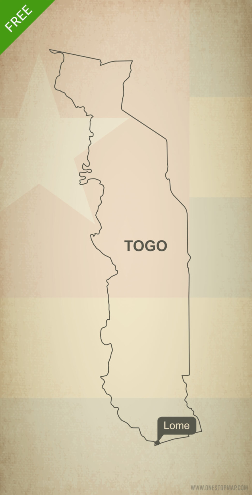 Free vector map of Togo outline