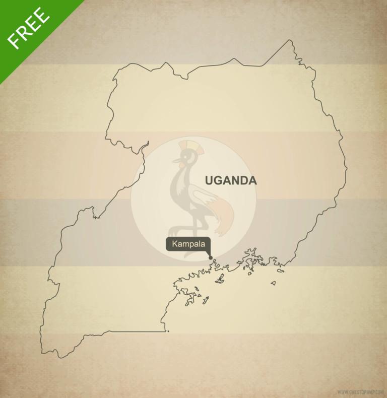 Free vector map of Uganda outline