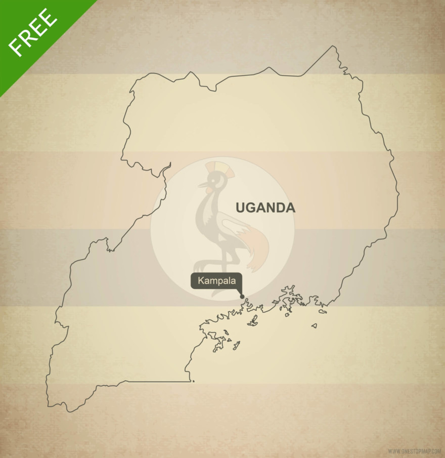 Free vector map of Uganda outline