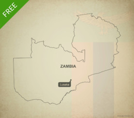 Free vector map of Zambia outline