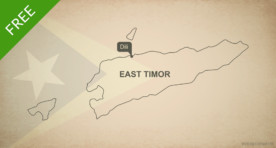 Free vector map of East Timor outline