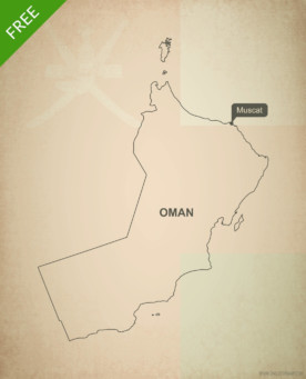 Free vector map of Oman outline