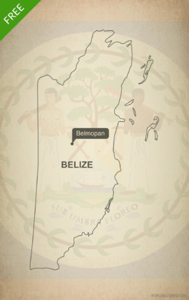 Free vector map of Belize outline