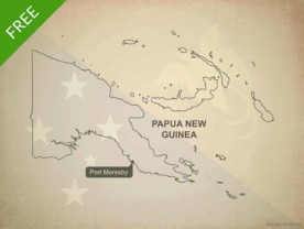 Free vector map of Papua New Guinea outline