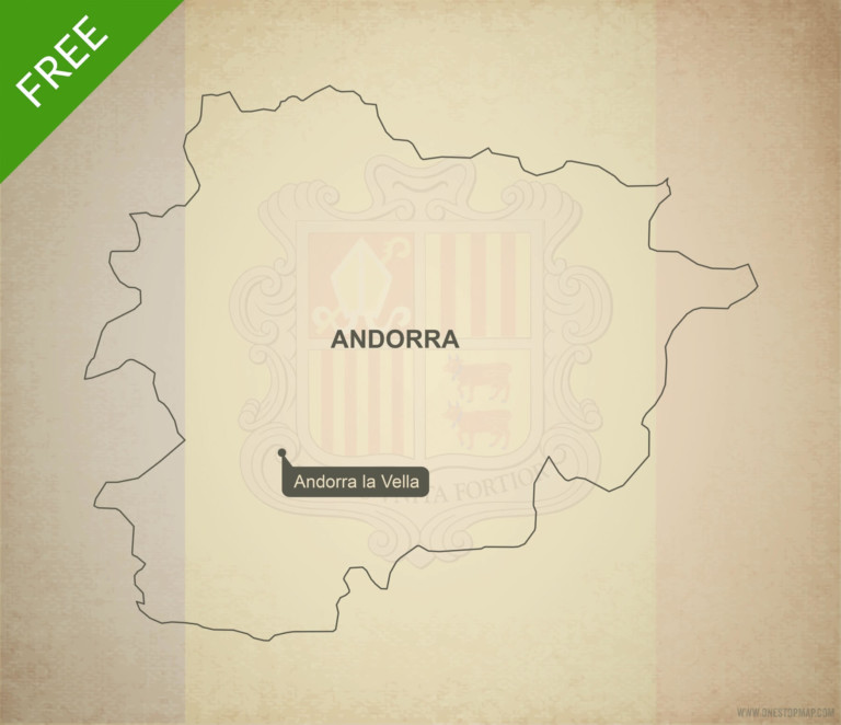 Free vector map of Andorra outline