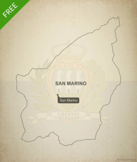 Free vector map of San Marino outline