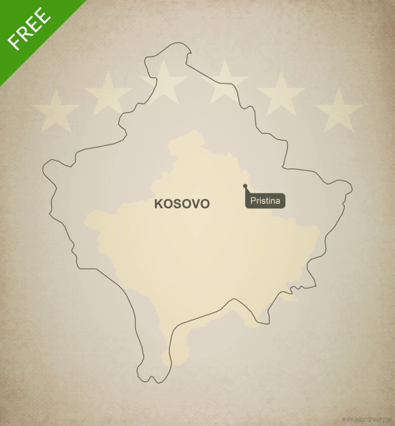 Free vector map of Kosovo outline