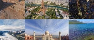 Collage of panoramas from Airpano