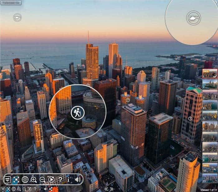 Airpano panorama of Chicago