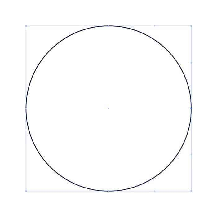 Draw a circle and select it