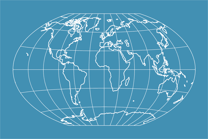 Example world map in Winkel Tripel projection