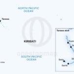 Vector map of Kiribati political