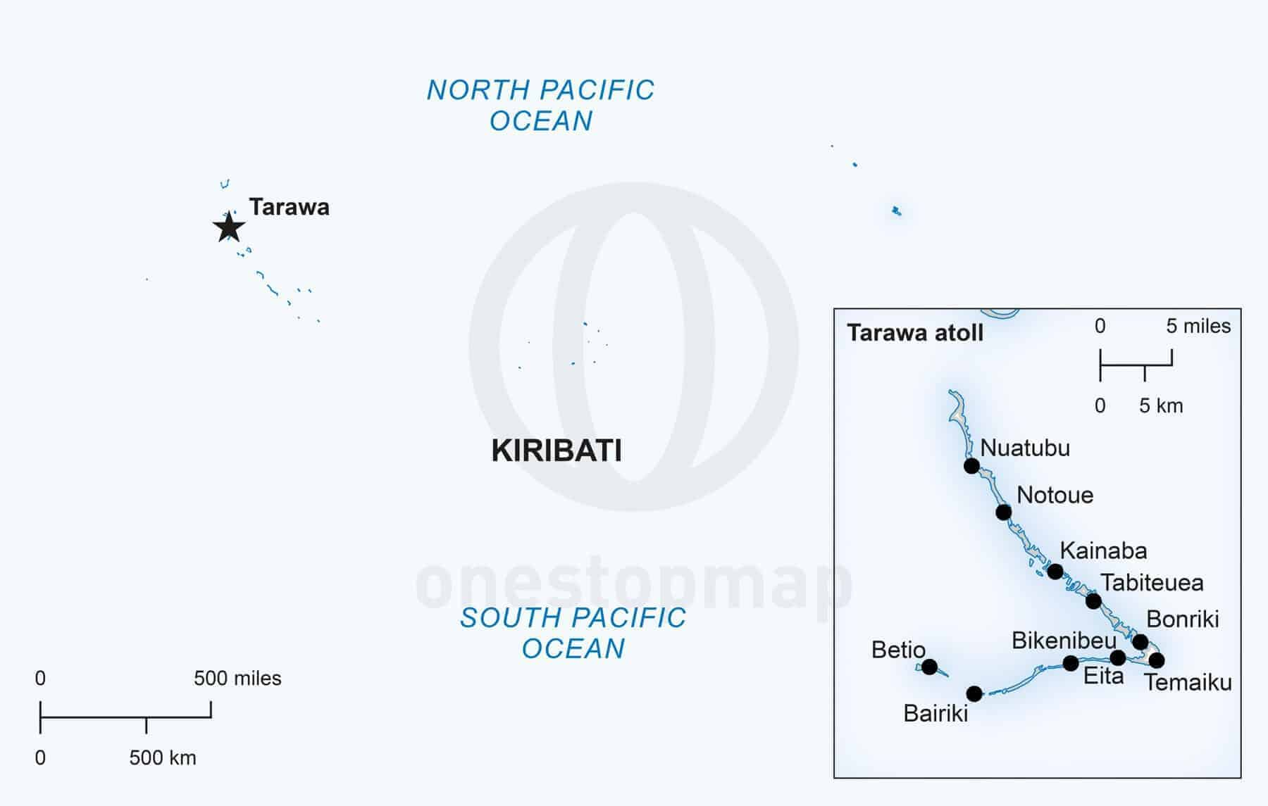 Vector map of Kiribati political