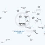 Vector map of Marshall Islands political