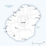Vector map of Nauru political