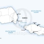 Vector map of Samoa political