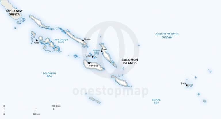 Vector map of Solomon Islands political