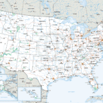 General reference map of the USA