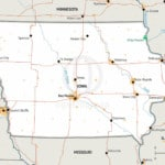 Map of Iowa
