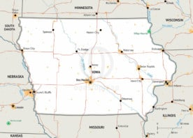 Map of Iowa