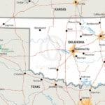 Stock vector Map of Oklahoma