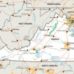 Stock vector map of Virginia
