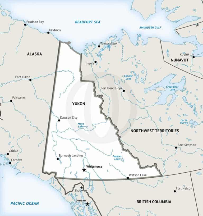 Stock vector map of Yukon Territory