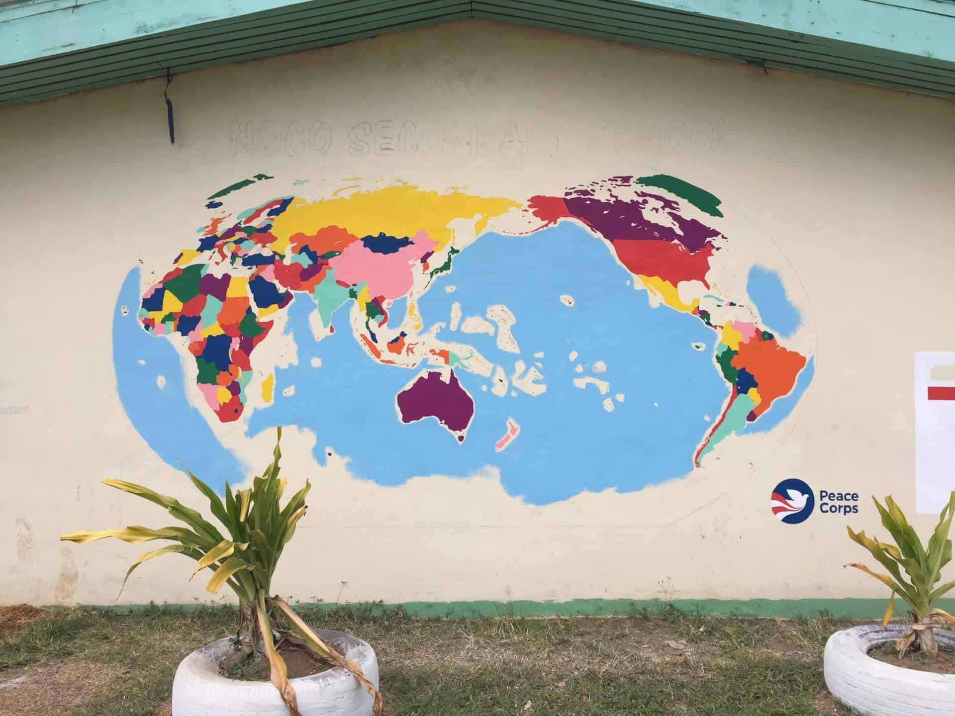 World Map mural - work in progress
