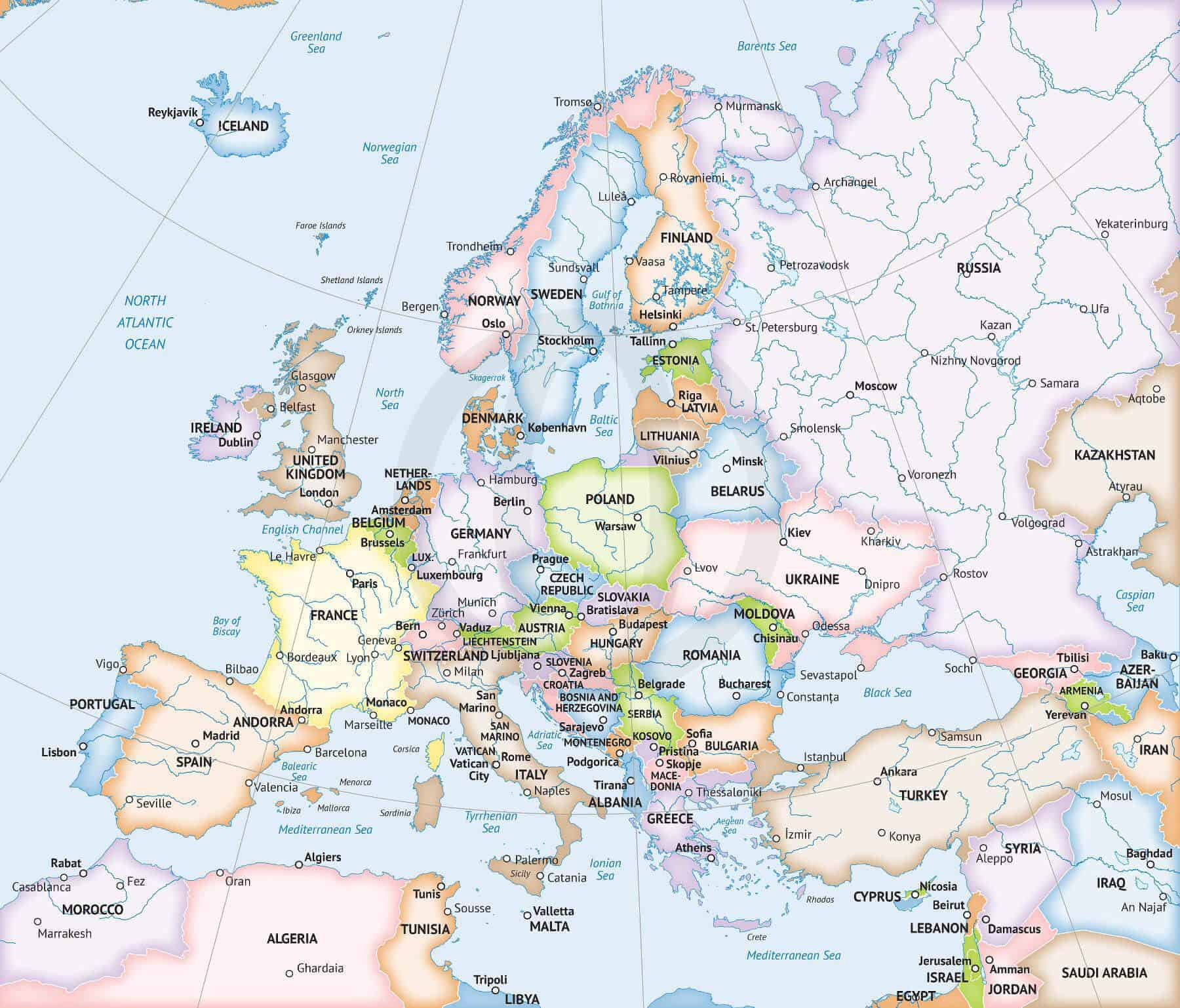 It's just a graphic of Europe Map Printable in modern