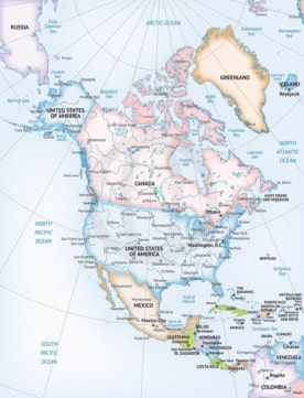 Map of North America Formal style