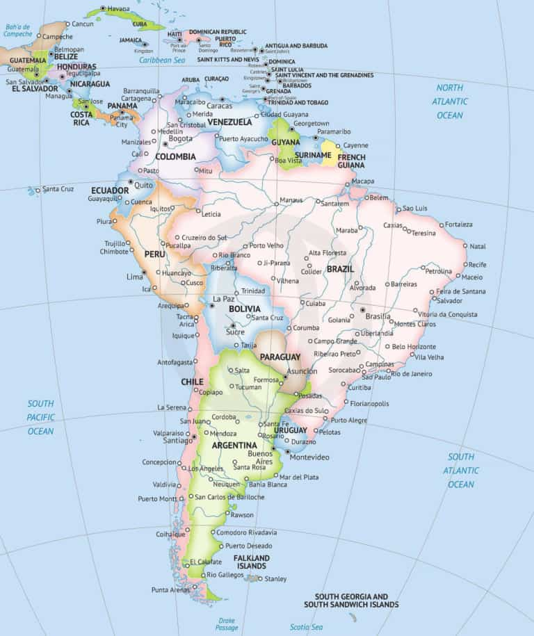 Map of South America, Formal style